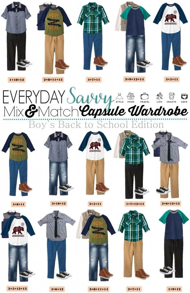 Boys Teenage Back To School Outfits.