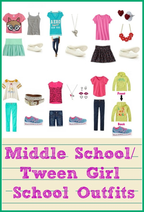 Middle School And Elementary School Back To School Outfits.