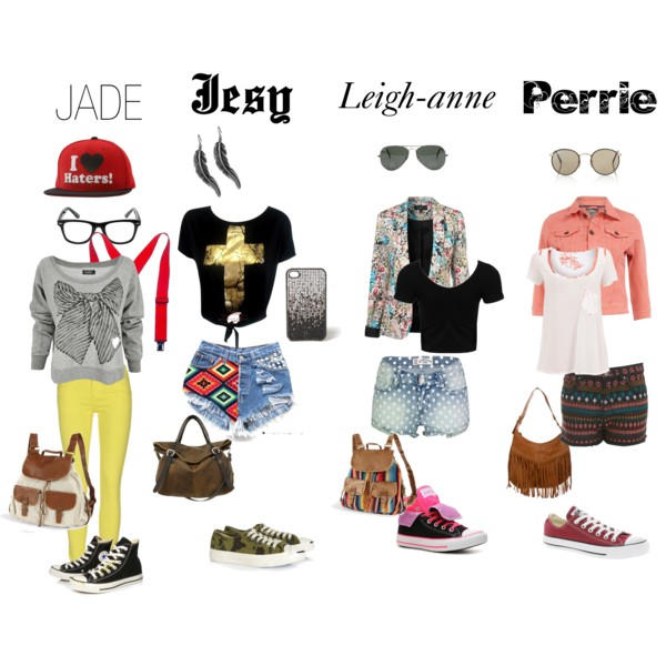 Little Mix inspired Converse Back to school outfits.