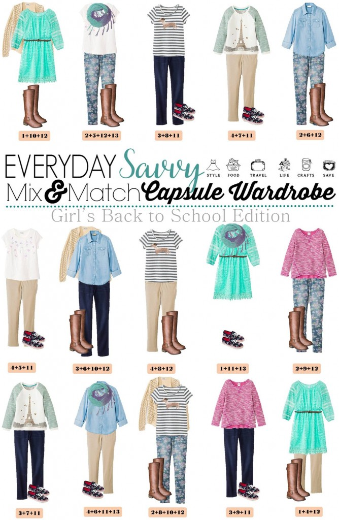 Girls Back To School Capsule Wardrobe.