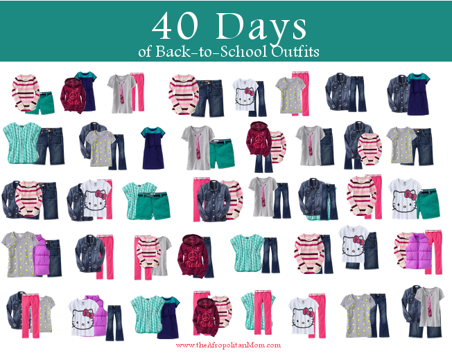 Back to School Fashion for Kids: 15 Items, 40 Looks #FashionFriday.