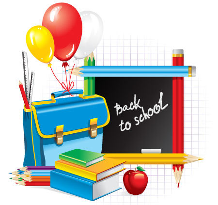 Back to School Pictures and Supplies Images.