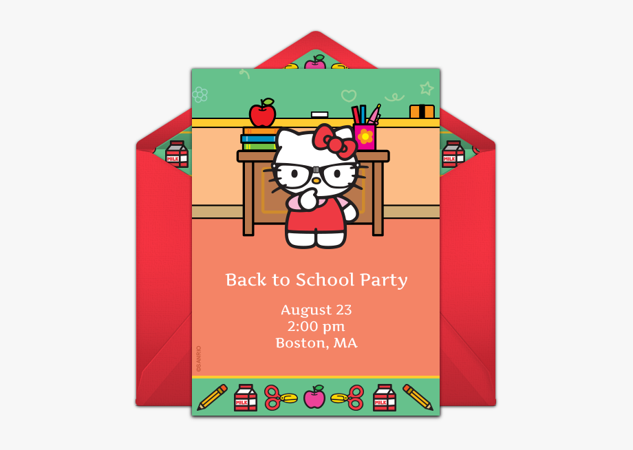 Invitations For Your Back To School Party Ⓒ.