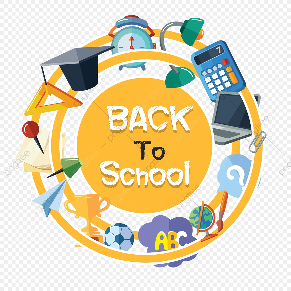 Back To School Elements, School, Back To School PNG Transparent.