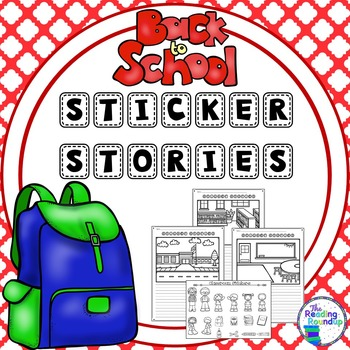 Back to School Sticker Stories Writing Center.