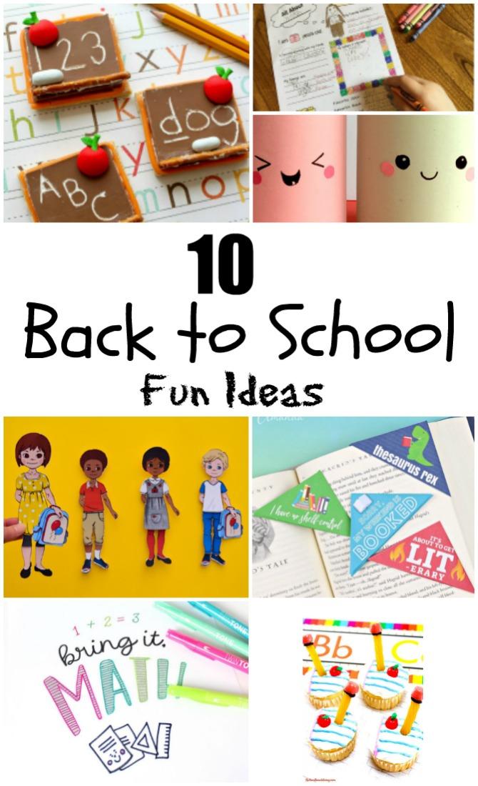 Back to School Ideas.