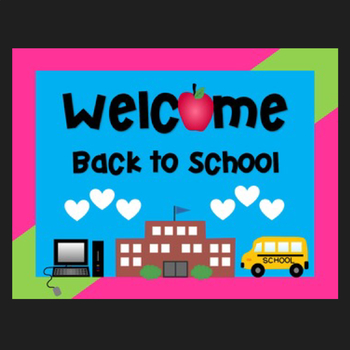 Free Welcome Back to School Sign {Clipart Featured on You.
