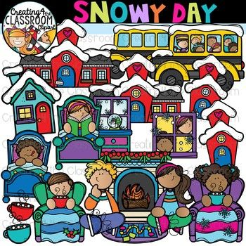 Snow Day Clipart {Winter Clipart}.