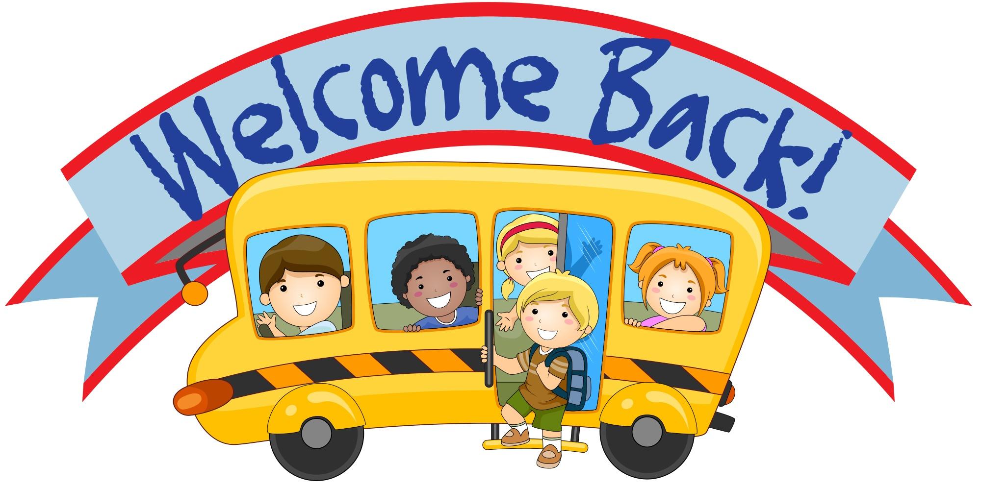 Back to school from winter break clipart.
