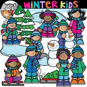 Winter Kids Clipart {Winter Clipart}.