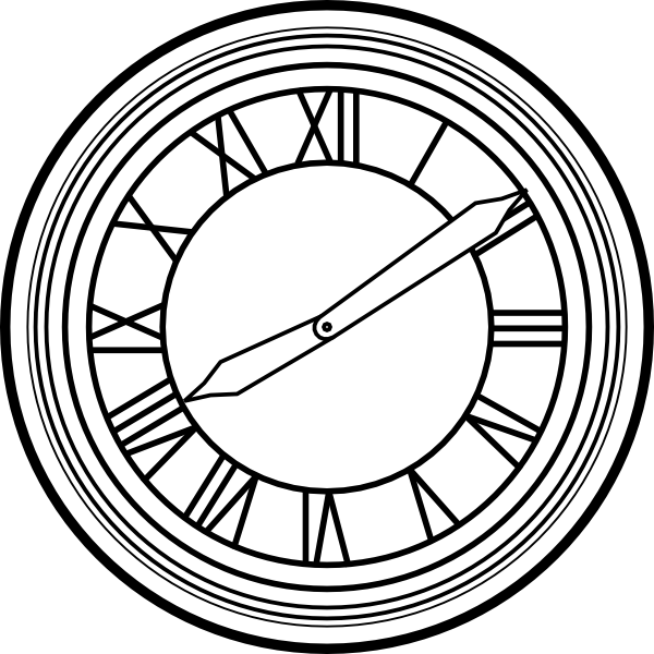 Back To The Future Clock Clip Art at Clker.com.