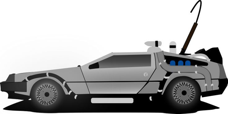 Car delorean Clipart Back To The Future.