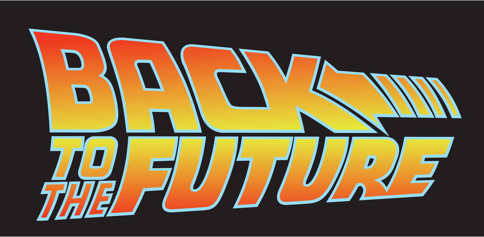 back to the future logo.