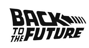 Back to The Future Inspired Movie Logo Vinyl Decal for Car, Home, Yeti  Tumbler, Electronics.