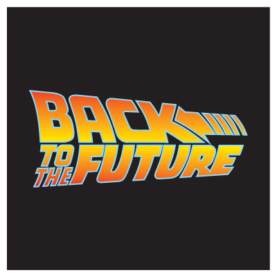 Back to the Future logo vector free.