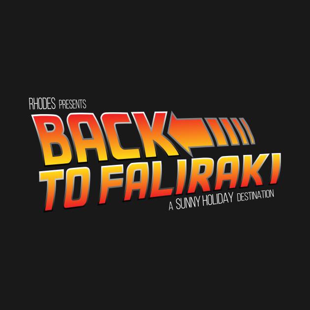 Back To Faliraki Back To The Future Logo.