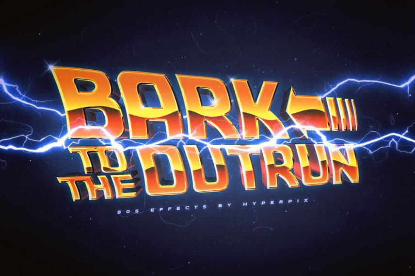 Back to the Future Text Effect.