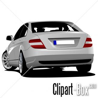 CLIPART SEDAN CAR BACK VIEW.
