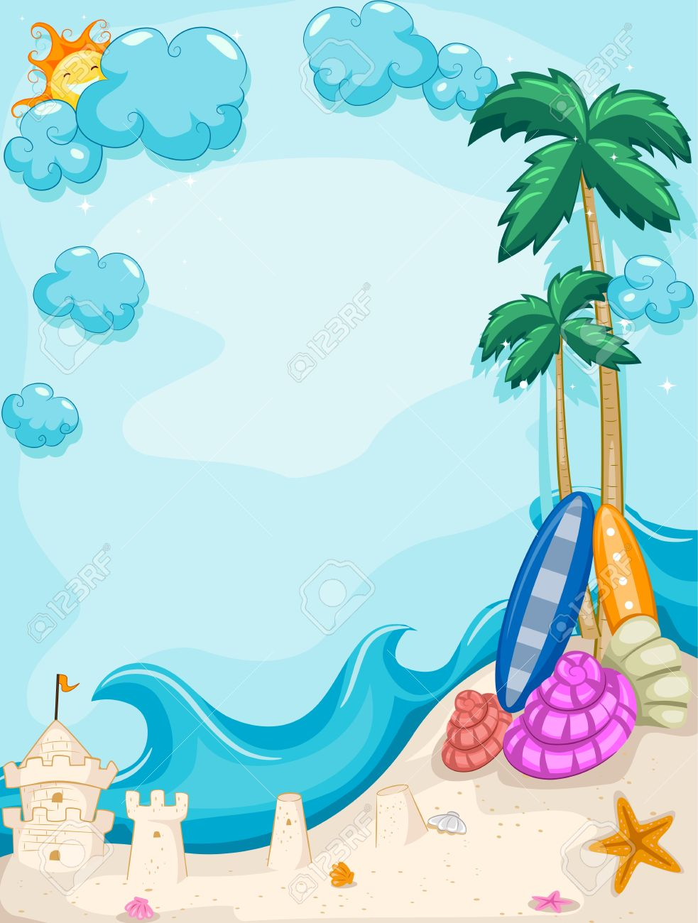 free beach clipart backgrounds - clipground