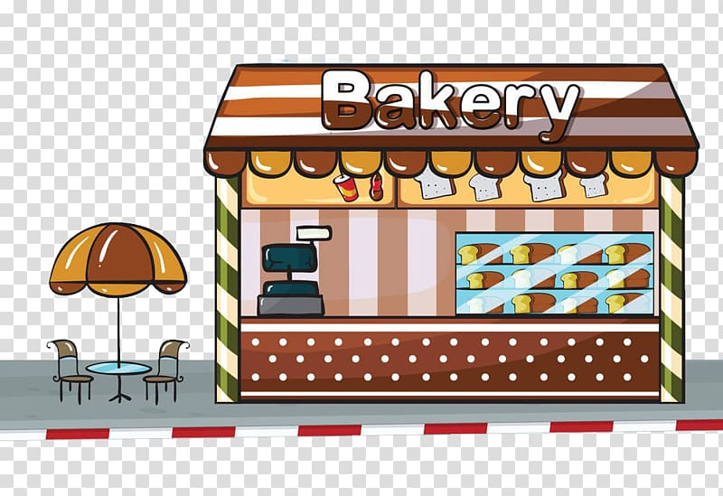 Bakery illustration, Bakery Cake , Breakfast shop.