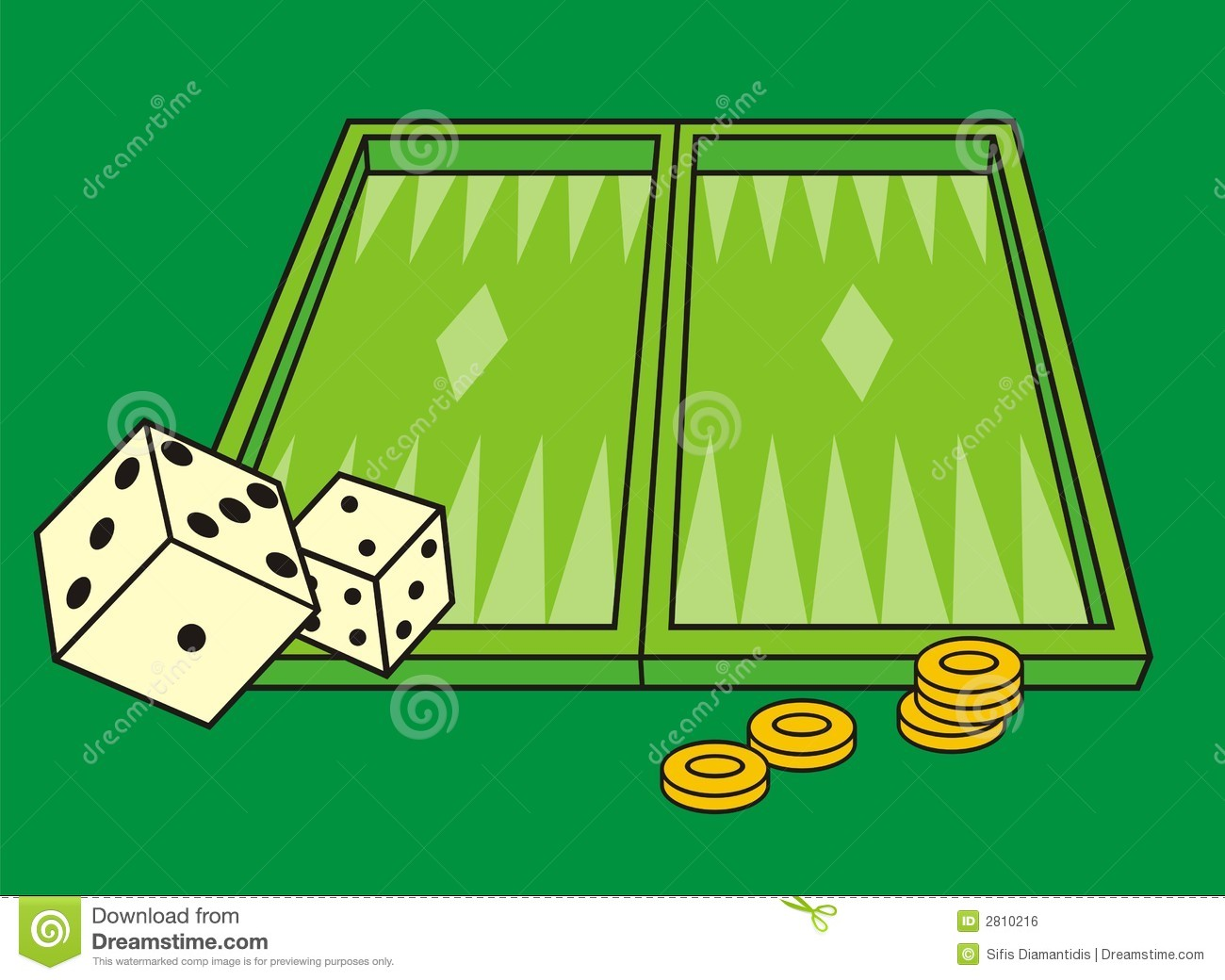 Backgammon Clip Art.
