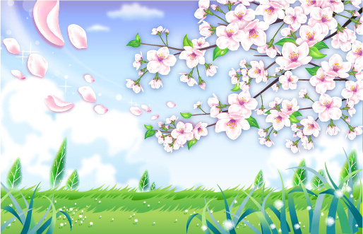 Natural landscape background clipart free vector download.