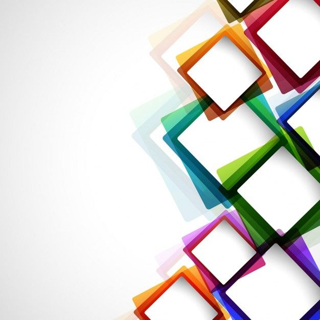 Colorful abstract background with squares Free Vector ในปี 2019.
