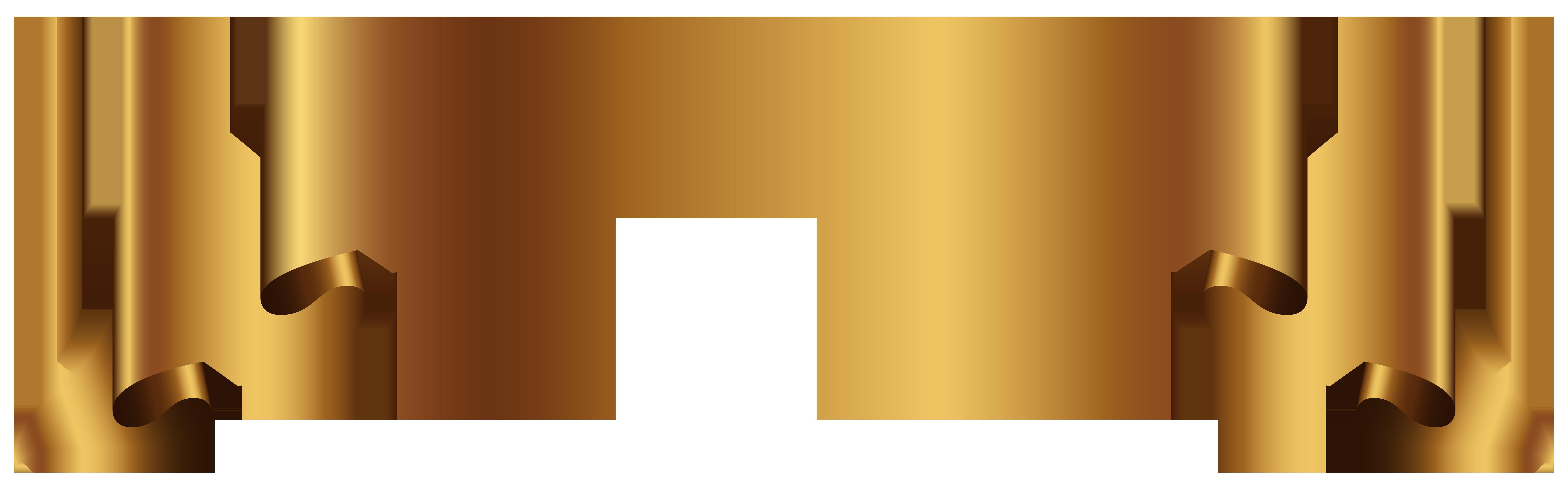 Banner Gold Clip art.