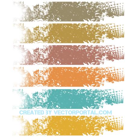 Vector Grunge Banner Background Design Clipart Picture.