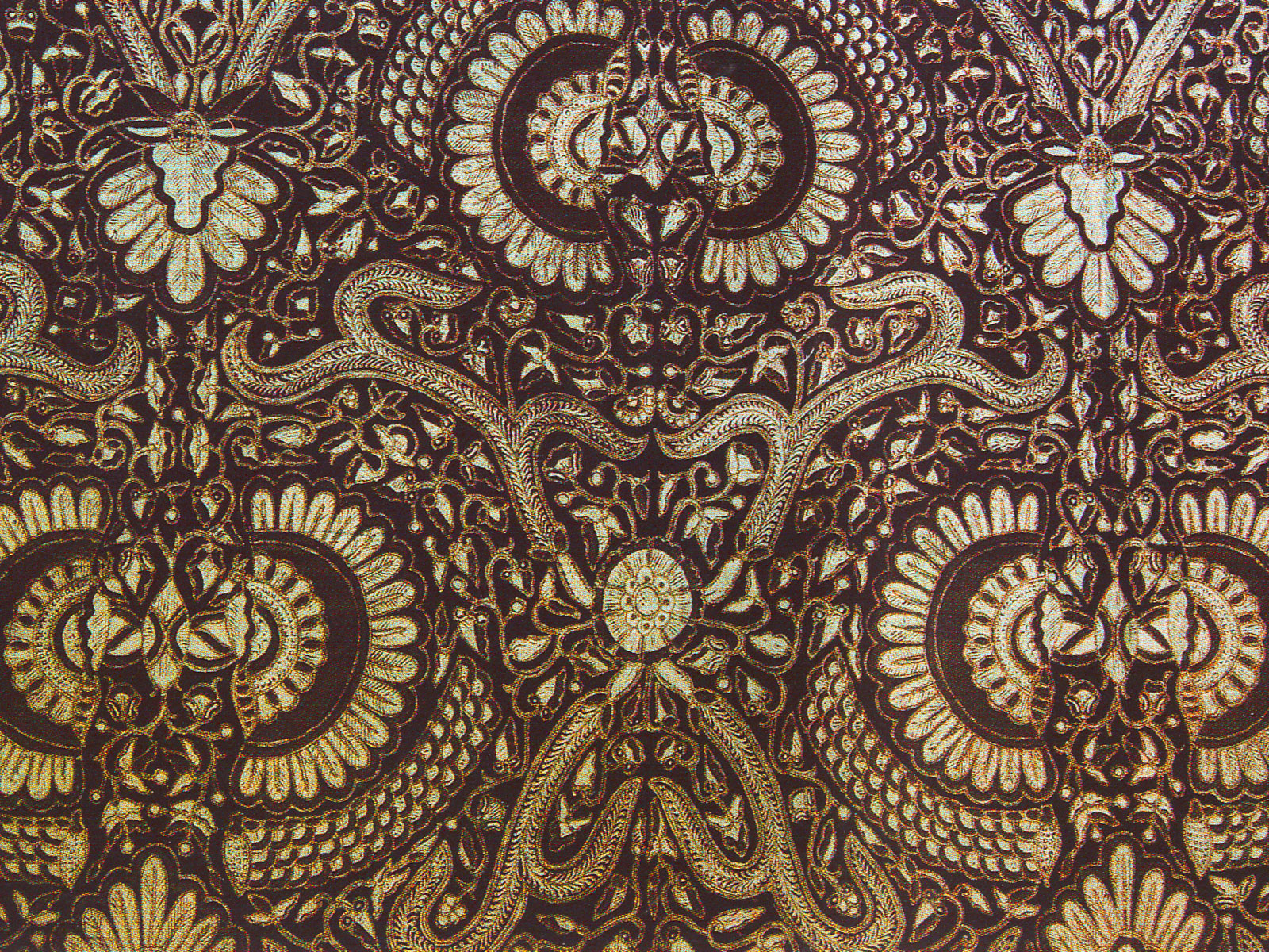Brown Modern Batik Background.