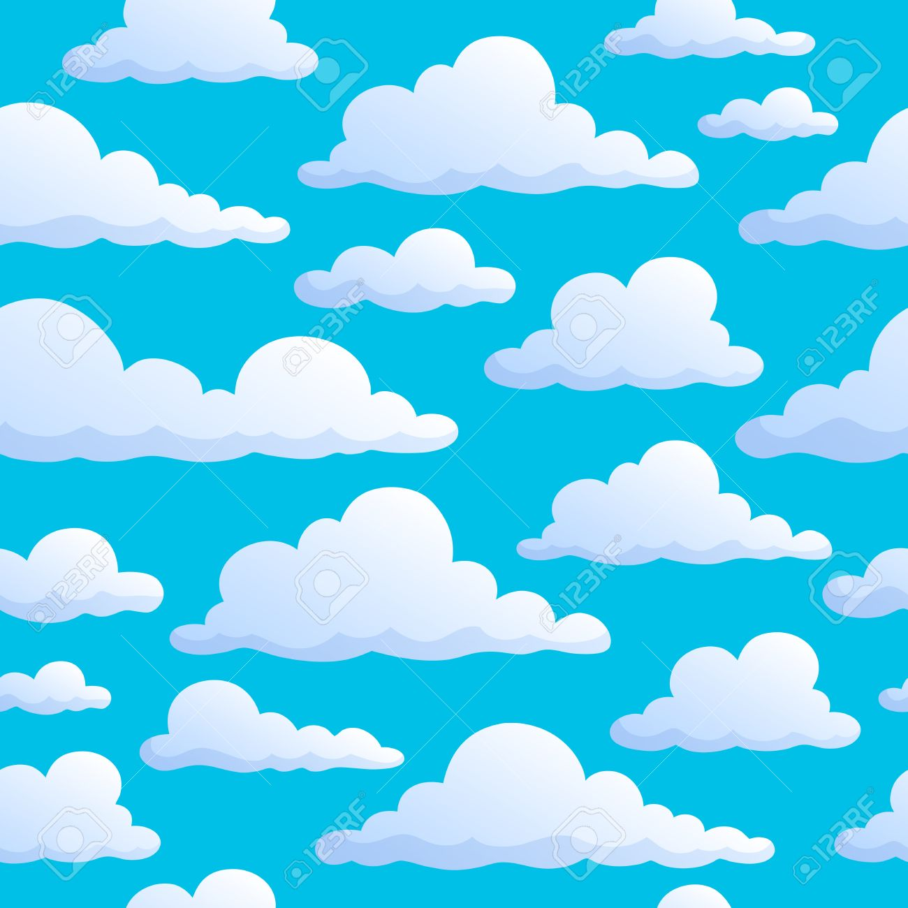 4197 Clouds free clipart.