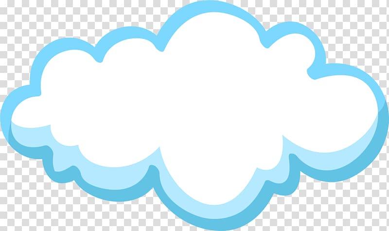 Blue Cloud, Little fresh blue clouds transparent background.