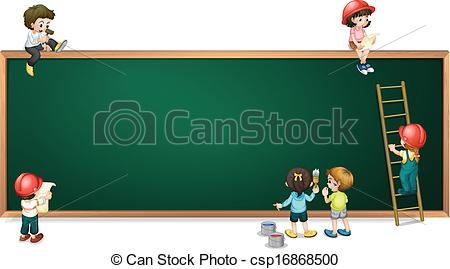 Image Gallery of Green Board Background Clipart.