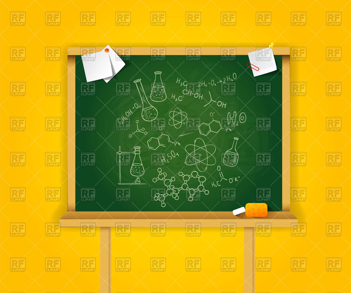 Green school board with on yellow background Vector Image #59291.