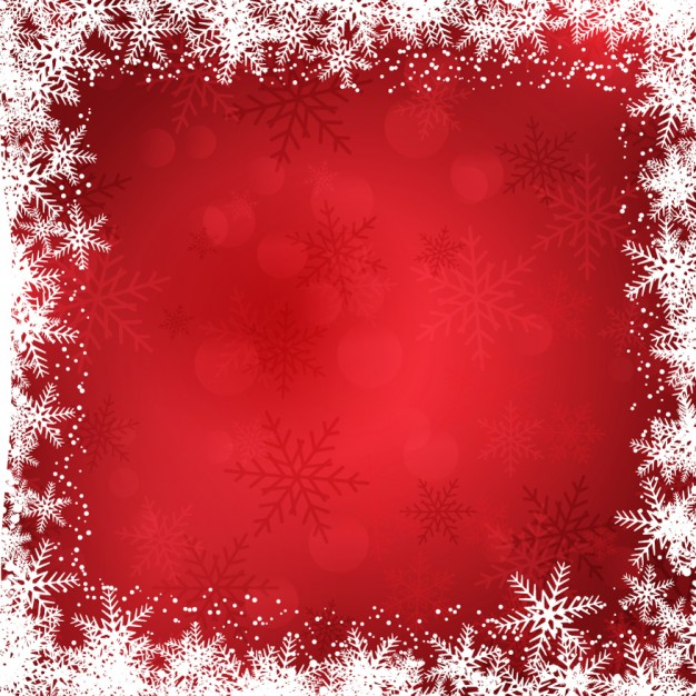Christmas background with snowflakes border Vector.