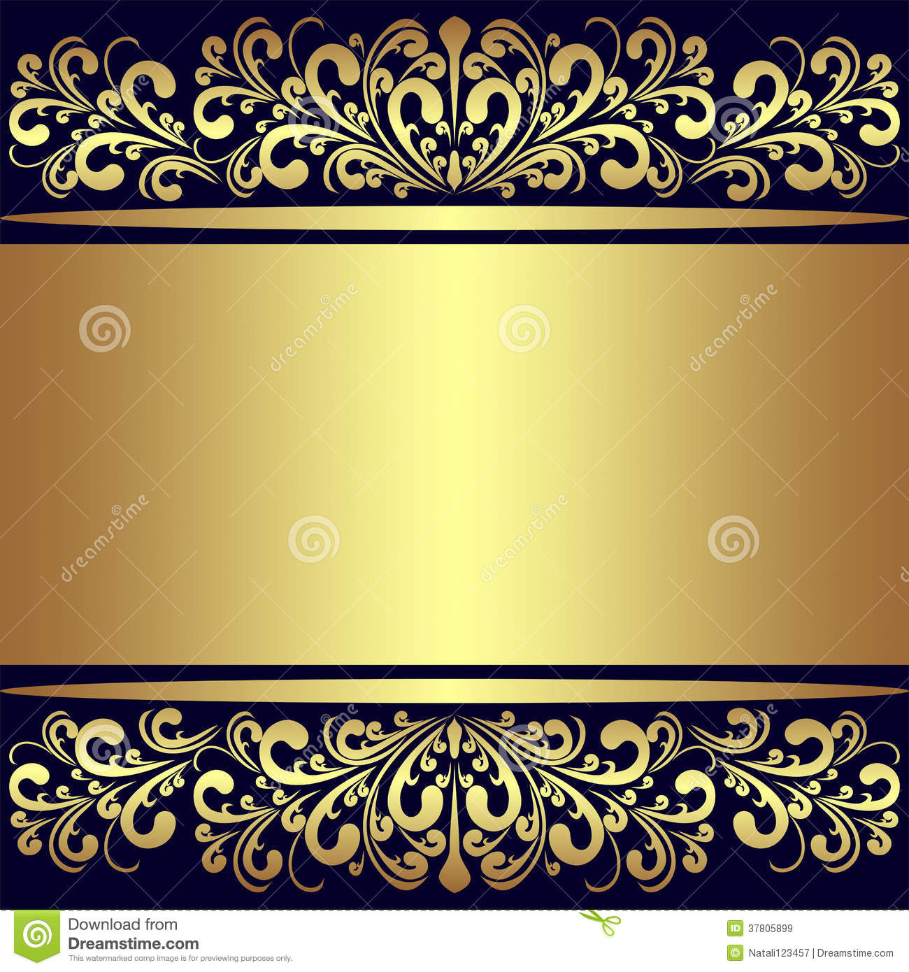Luxury Background With Golden Royal Borders. Royalty Free Stock.