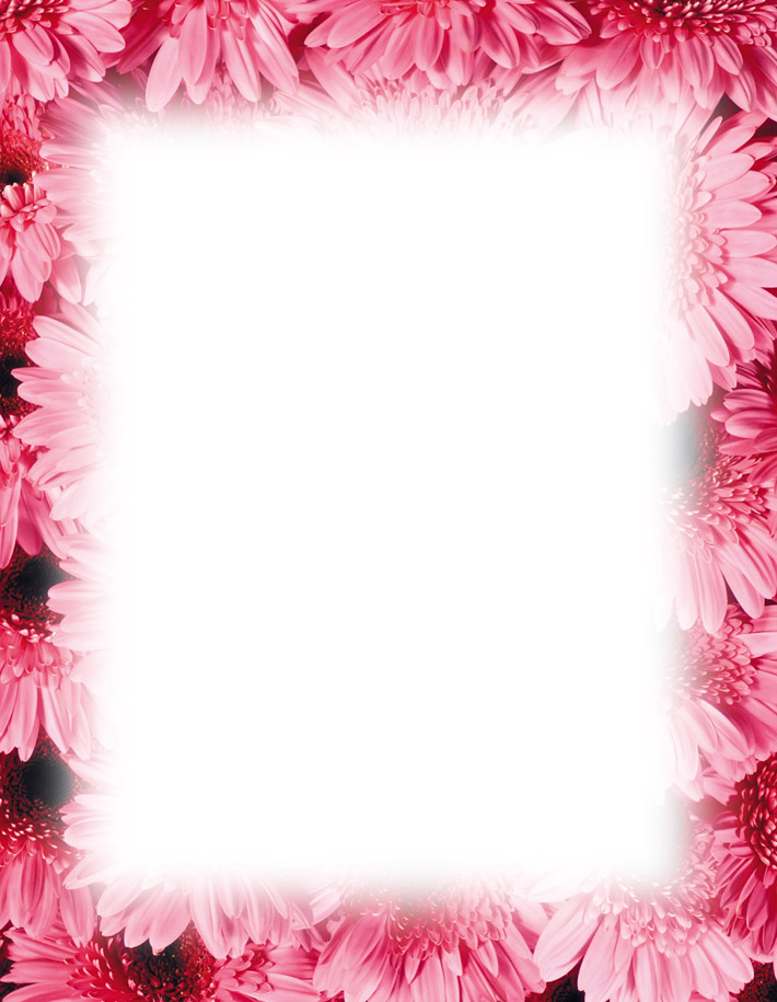 Magnolia Border Free Powerpoint Backgrounds Template.