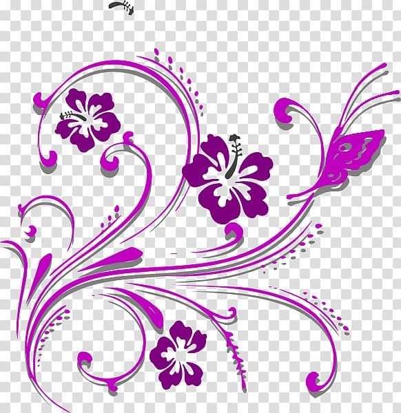 Purple and pink flower illustration, Butterfly Purple.