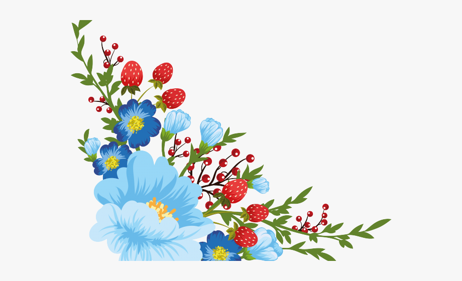 Dots Clipart Stitched Flower.