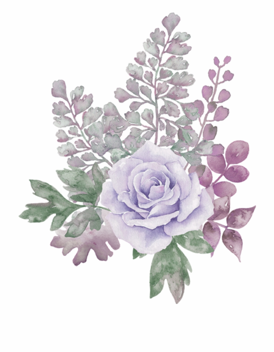 Pastel Floral Watercolor Background , Png Download.