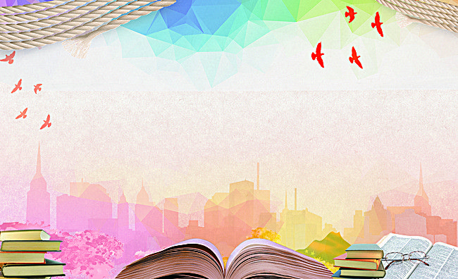 summer school reading and learning poster background.