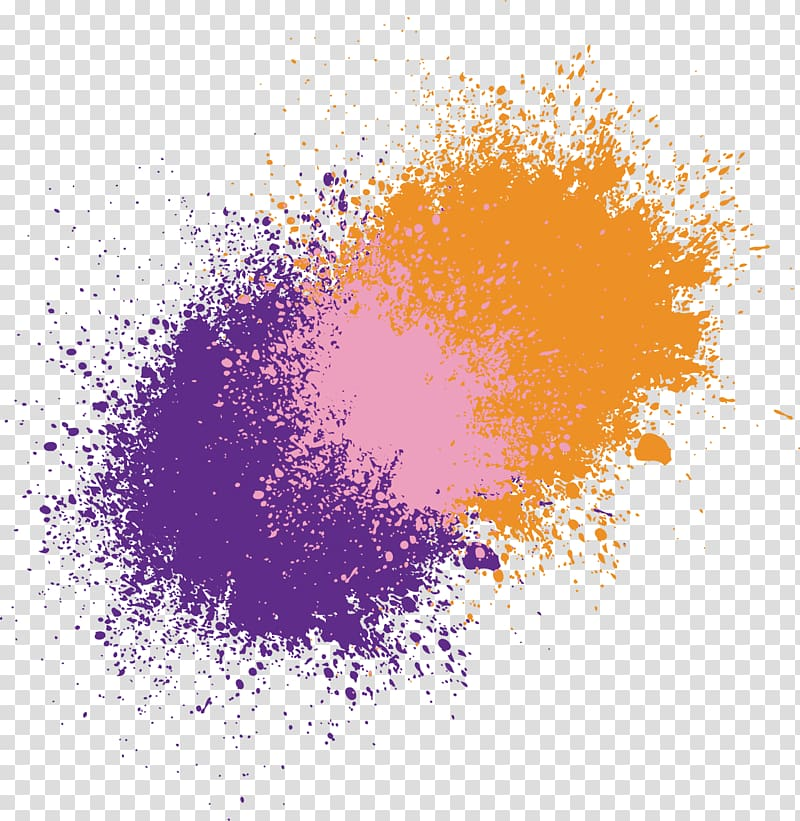 Purple, pink, and brown , Ink , Colorful background splash.