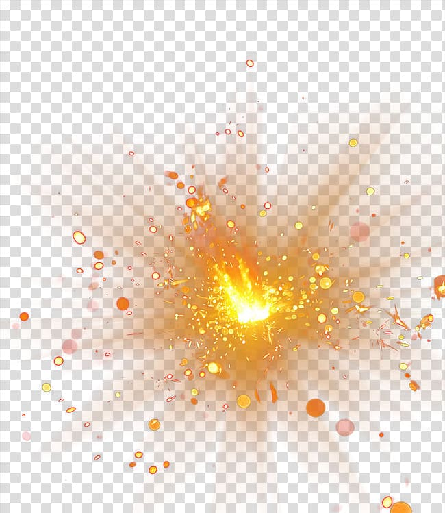 Explosion, Spot light effect, orange designed transparent.