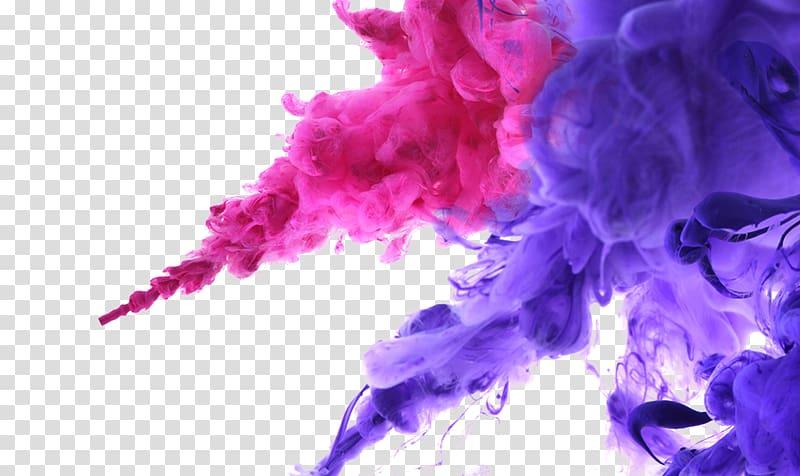 Purple and pink smoke illustration, Ink Color , Smoke.