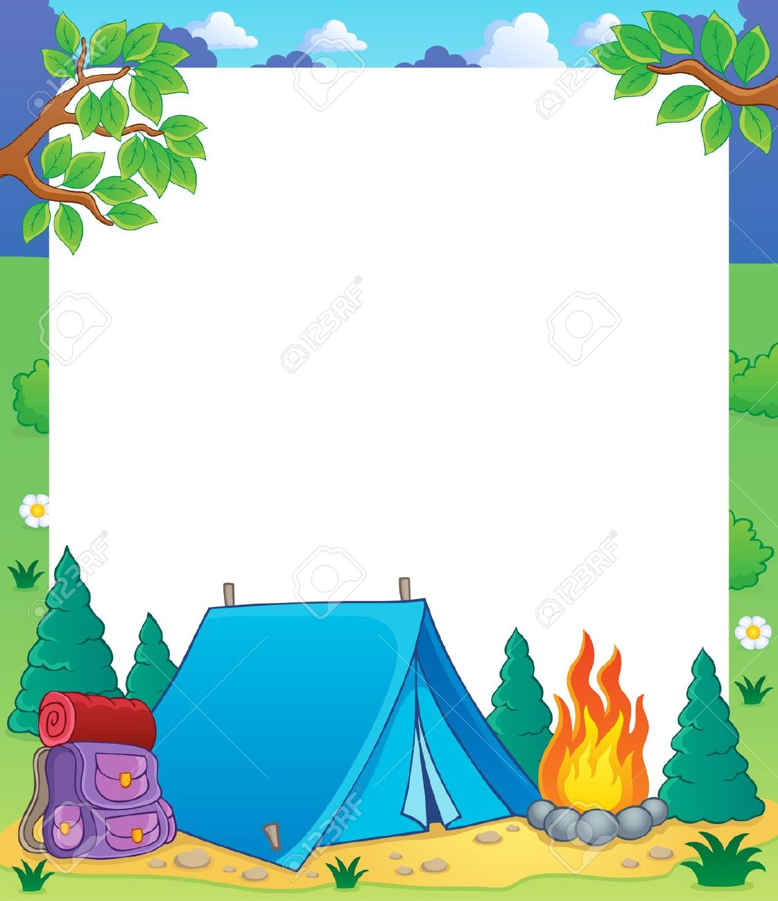 Camping background clipart » Clipart Station.