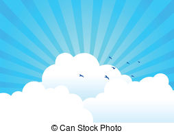 Backgrounds background blue bright cartoon cloud clouds Clipart.