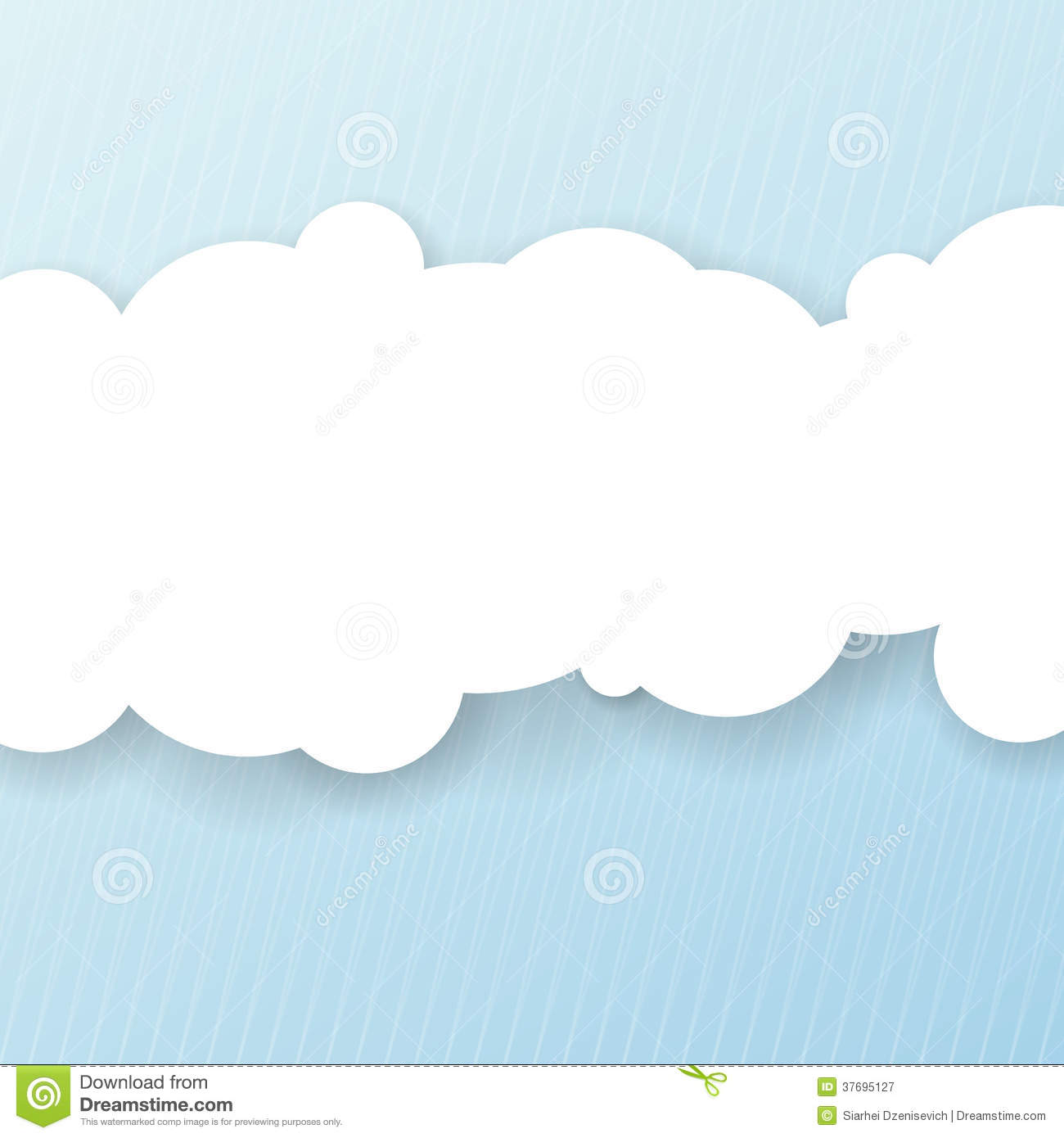 Message Clouds Clipart.