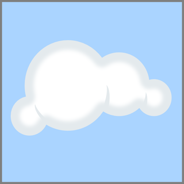 White Cloud Clipart No Background.