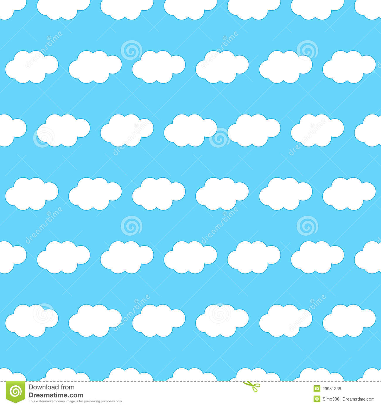 Cloud Seamless Background Royalty Free Stock Photos.