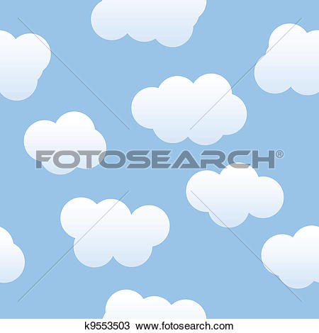 Clipart of Cloudy Background k9553503.
